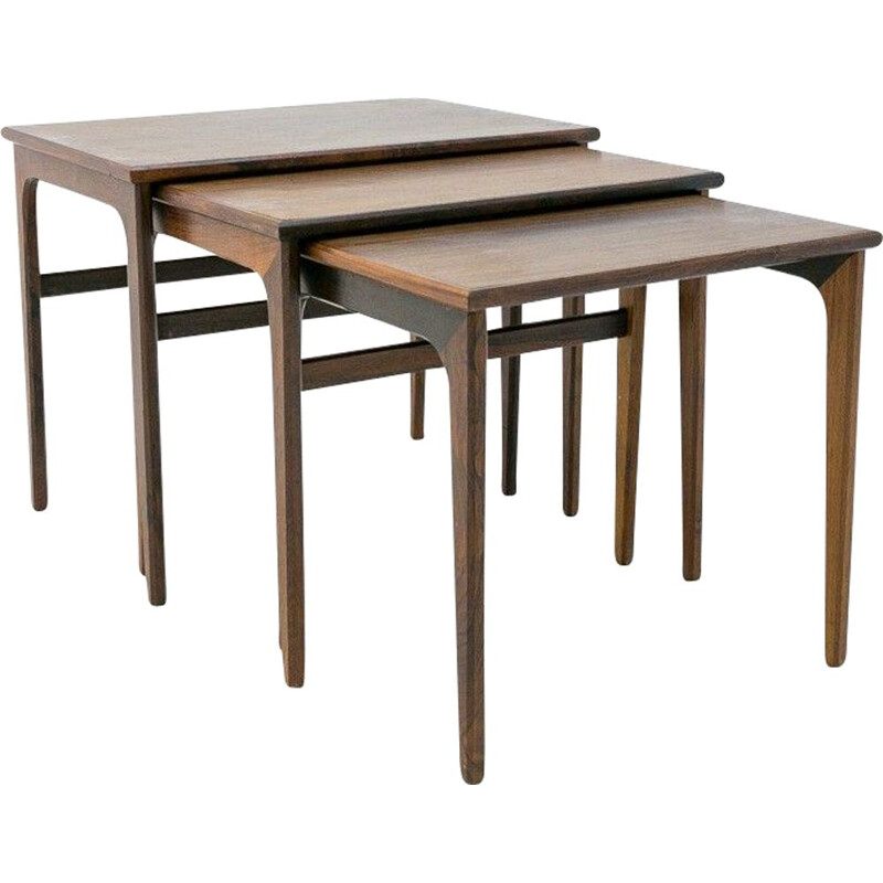 Set of 3 vintage Coffee tables Denmark 1960s
