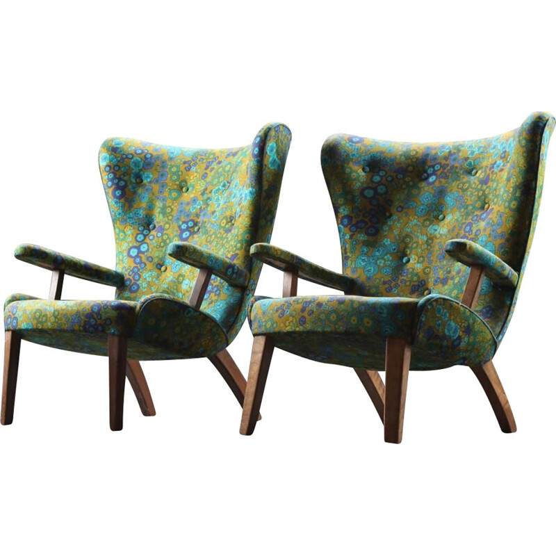 Pair of vintage armchairs Danish 1940s