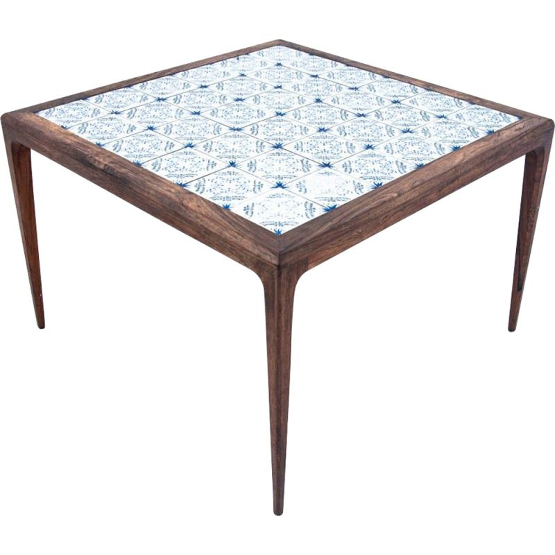 Vintage Table with ceramics on the countertop Danish 1960s