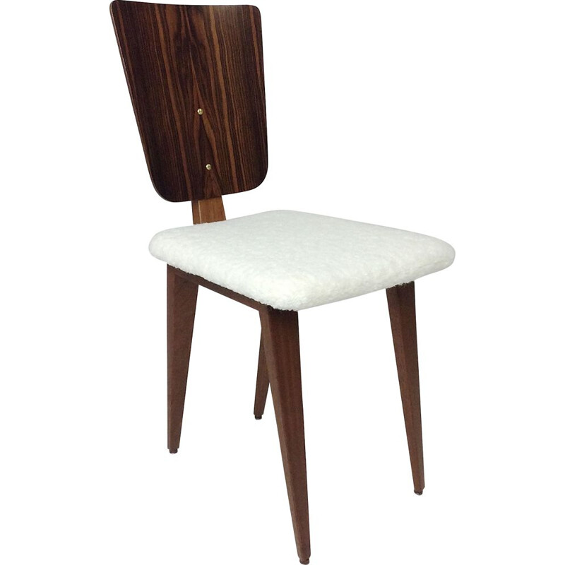 Vintage rosewood chair by André Sornay France 1950s