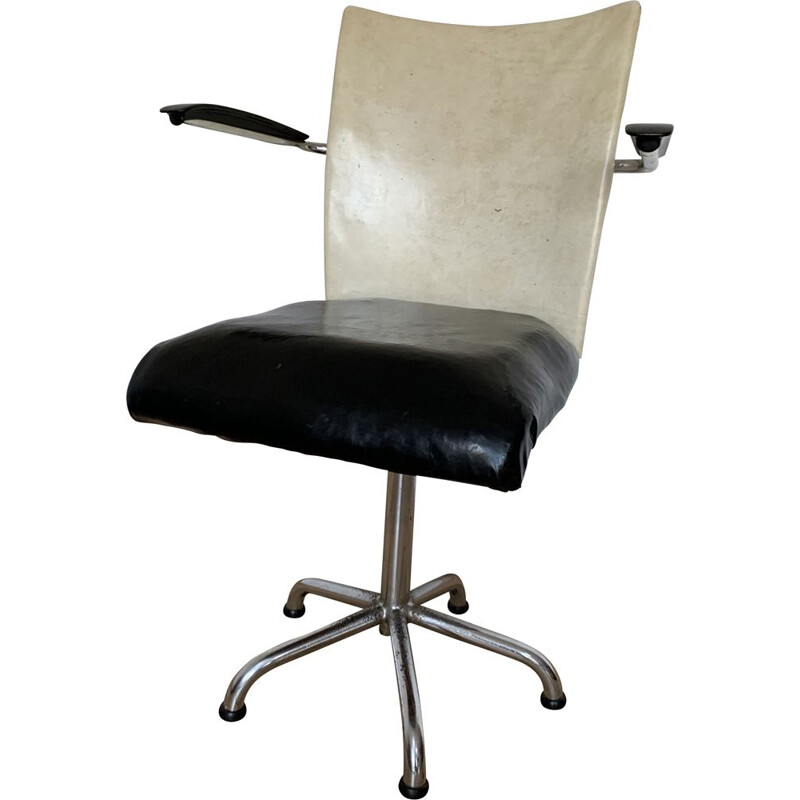 Vintage Desk Chair From Gebroeders De Wit Netherlands 1960s