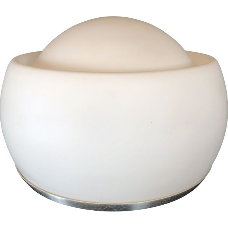 Vintage opaline glass table lamp by Pia Guidetti Crippa for Lumi Labeled Italy 1970s