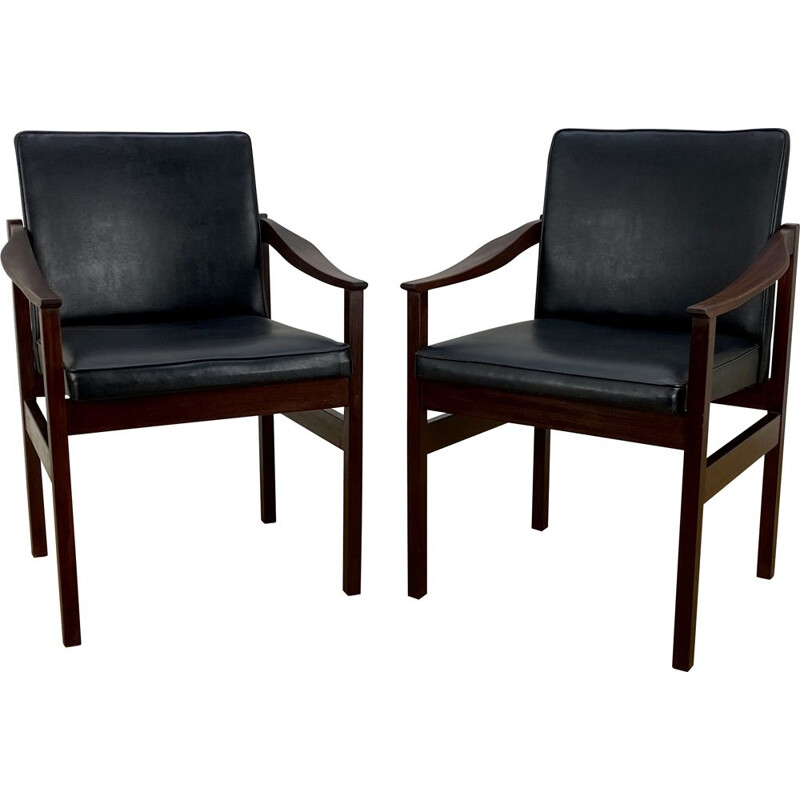 Pair of vintage teak Chairs 1950s