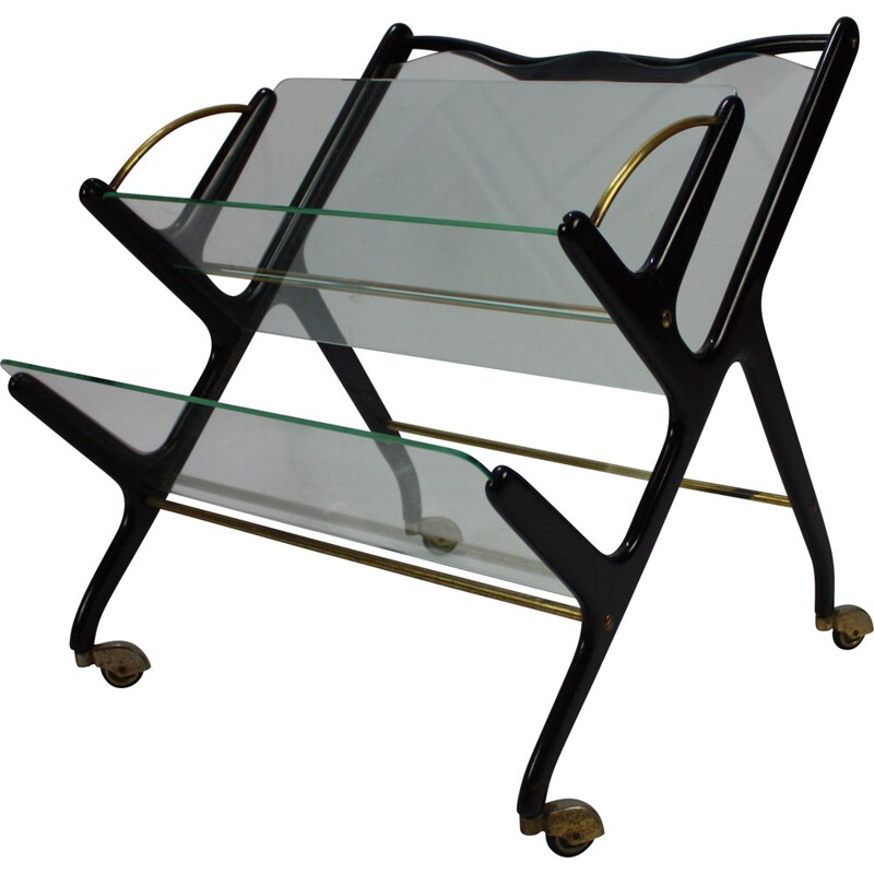 Vintage Magazine Rack by Ico Parisi Italy 1950s