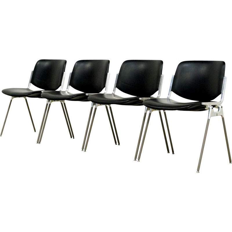 Set of 6 vintage Castelli side chair by Giancarlo Piretti 1960s