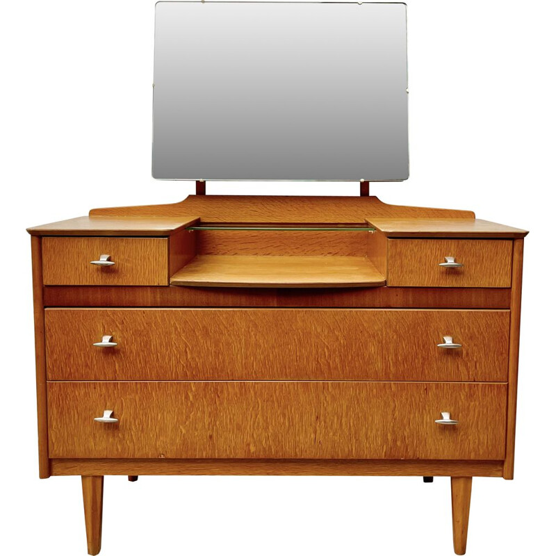 Vintage Dressing Table with Mirror and Drawers by Lebus 1960s