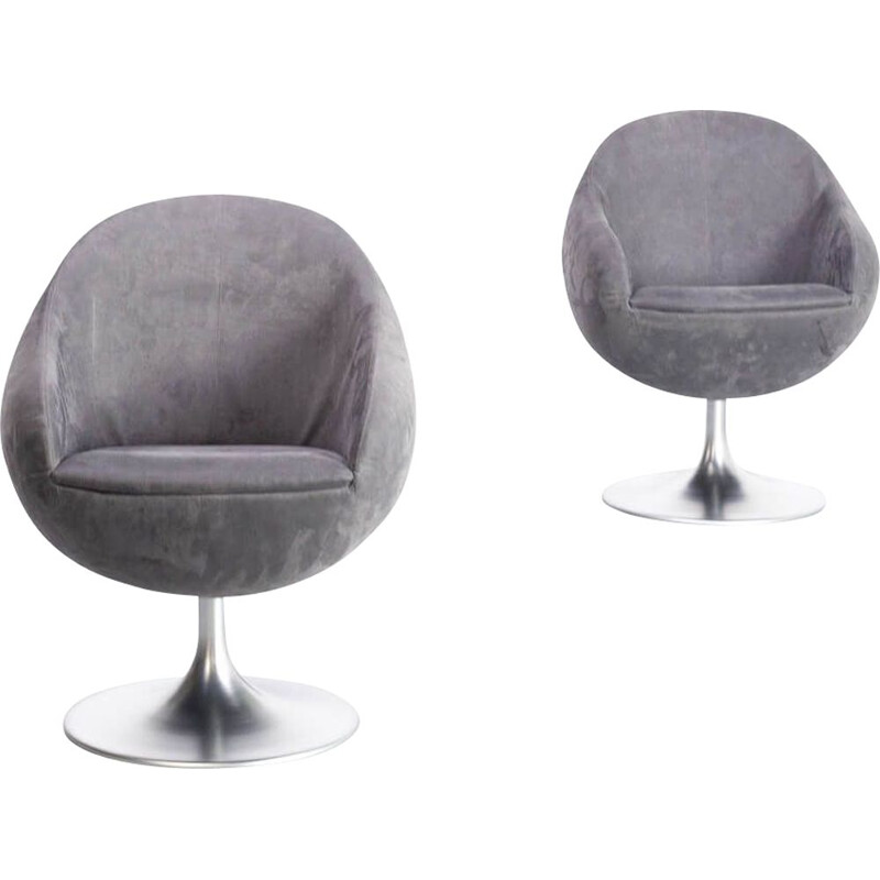 Pair of vintage comet cosmos swivel chair for Johanson 1960s