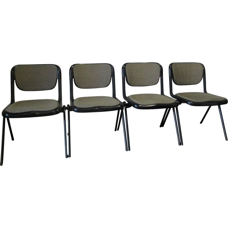 Set of 4 vintage chairs Vertebra by Emilio Ambasz and Giancarlo Piretti for Anonima Castelli 1976s