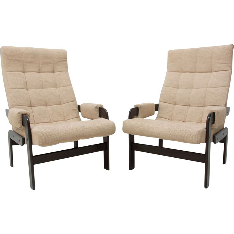 Pair of vintage armchairs Scandinavian 1970s
