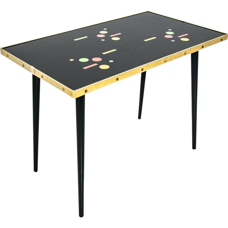 Vintage Bauhaus table Mihoma Germany 1969s
