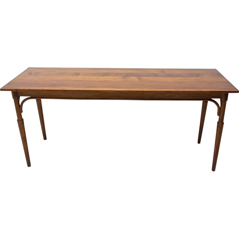 Long vintage Occasional coffee table Bohemia 1920s