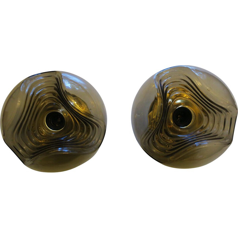 Pair of Large Vintage Wave Sconces by Koch & Loewy for Peill & Putzler