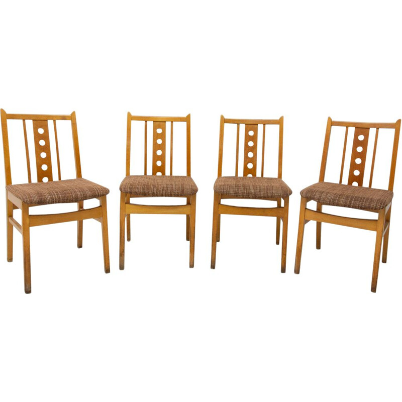 Set of 4 vintage Dining Chairs Czech Republic 1960s