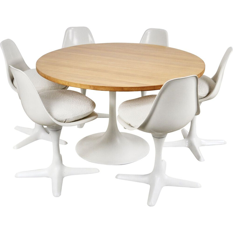 Vintage Tulip Dining Set by Maurice Burke for Arkana 1960s