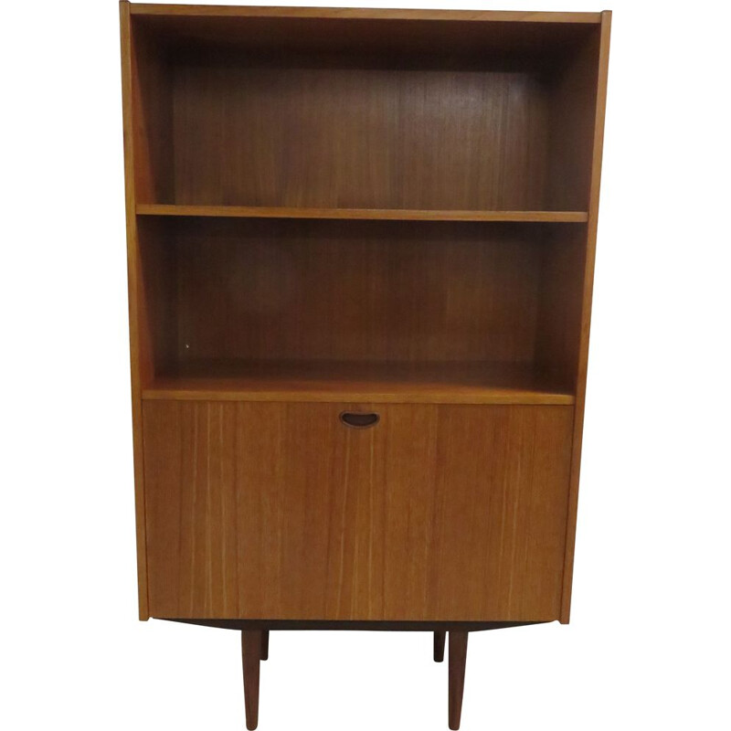 Large vintage bookcase in Scandinavian teak 1960s