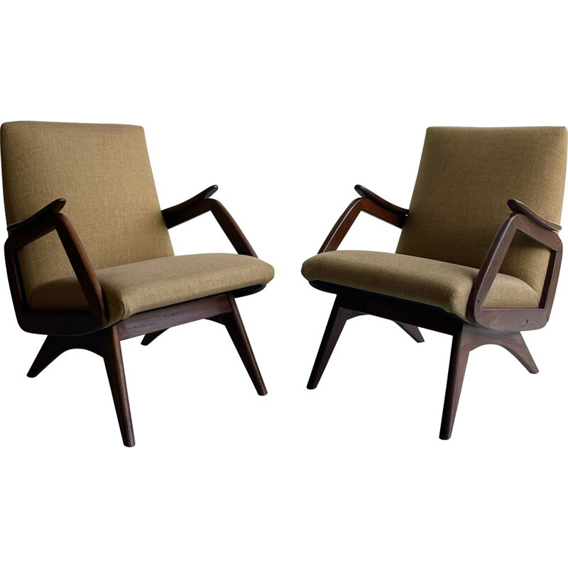 Pair of vintage armchair danish 1960s