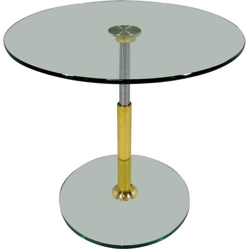 Vitage Peter Draenert round glass side table 1983s