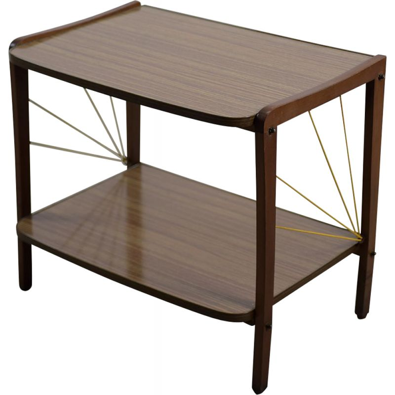 Vintage TV Table with Shelf German 1950s