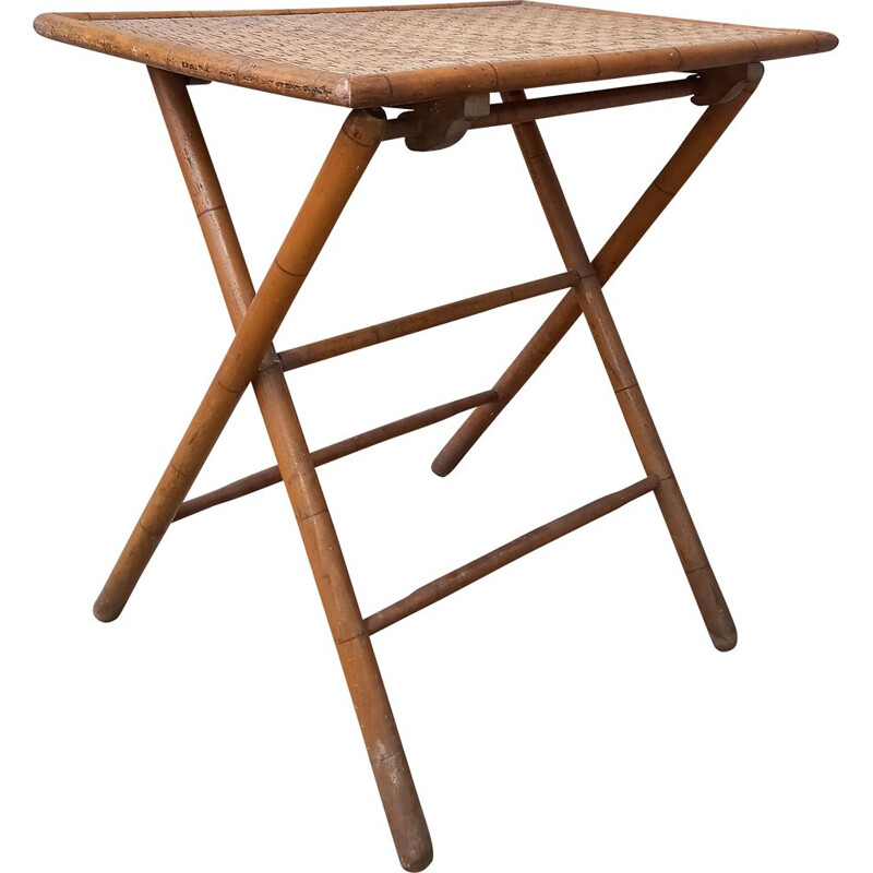 Vintage bamboo side table 1900s