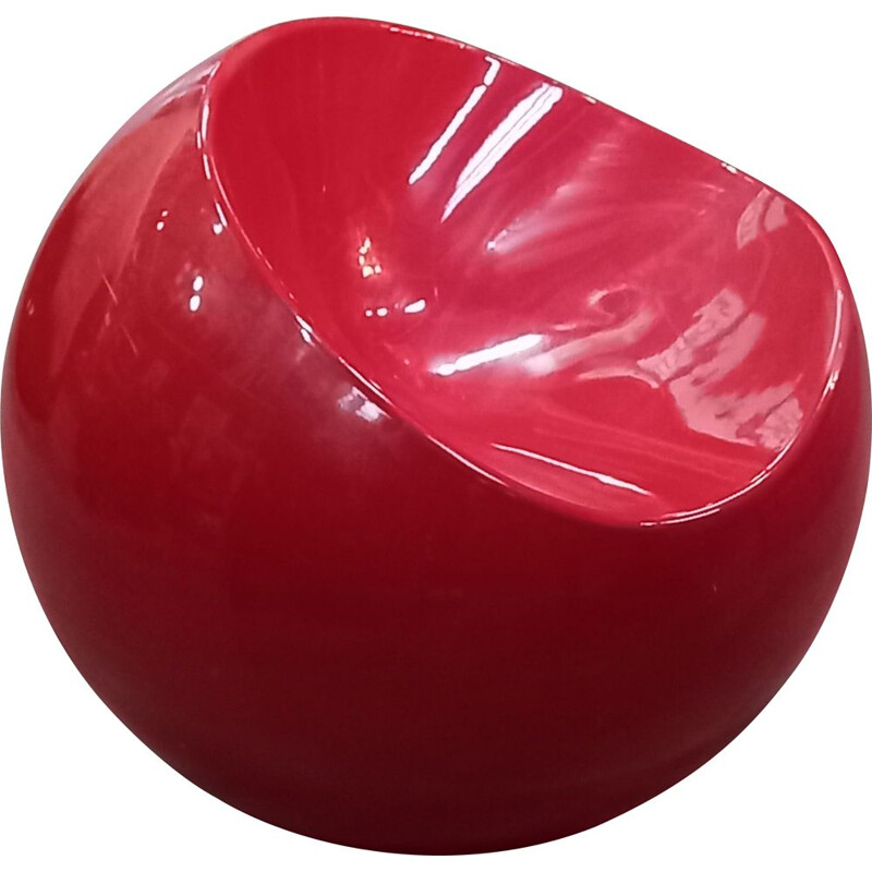Vintage Dupont red ball chair