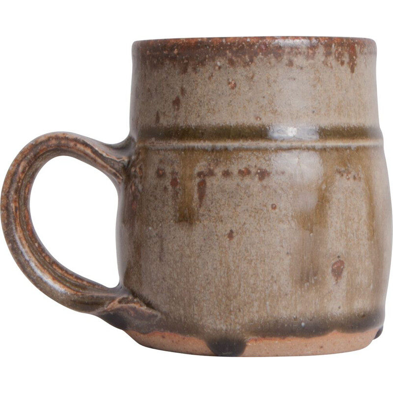 Vintage Glazed Mug with Handle England