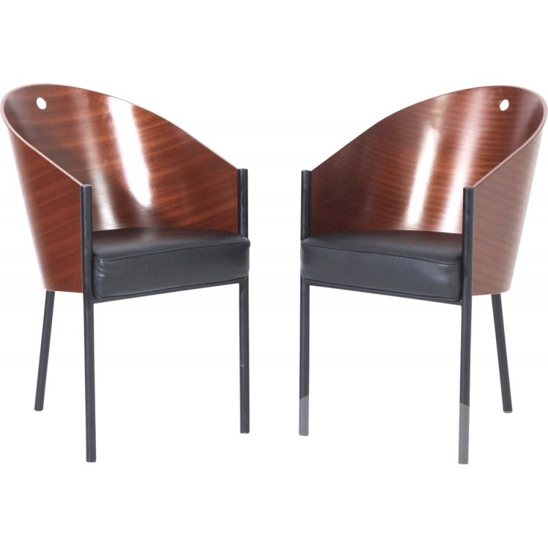 Pair of vintage Costes Dining Chairs by Philippe Starck for Driade 2000s