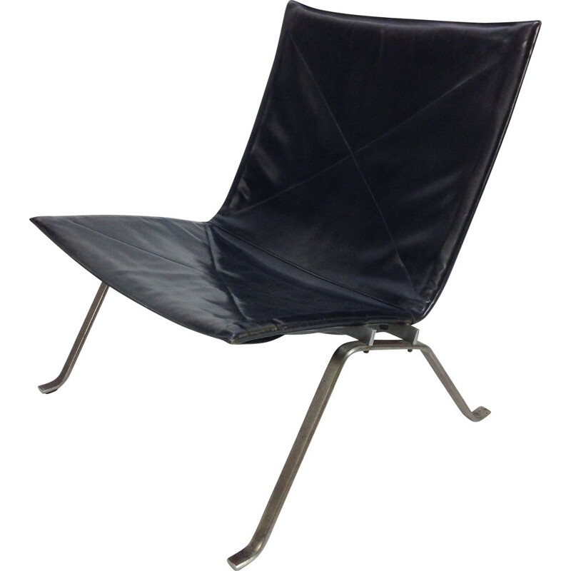 Vintage PK22 Easy Chair by Poul Kjaerholm for E. Kold Christensen, 1950s