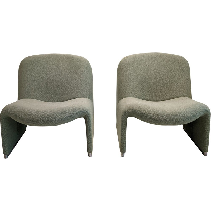 Pair of vintage Alky armchairs by Giancarlo Piretti