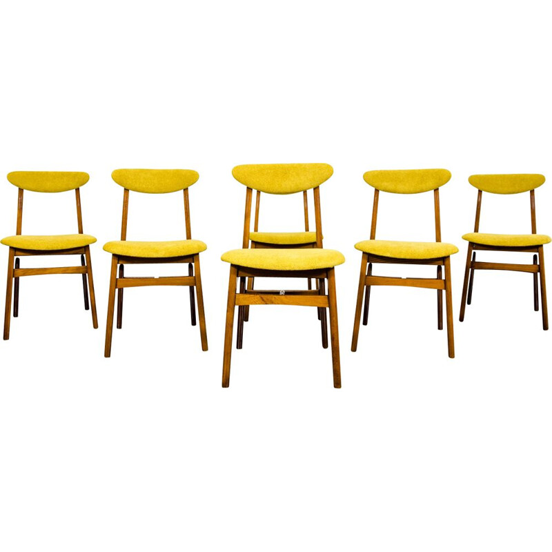 Set of 6 vintage chairs by Rajmund Teofil Hałas 1960