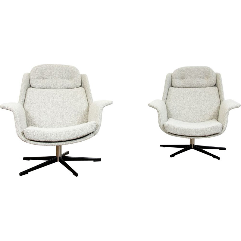 Pair of vintage B7041 armchairs by Radomsko, 1970s