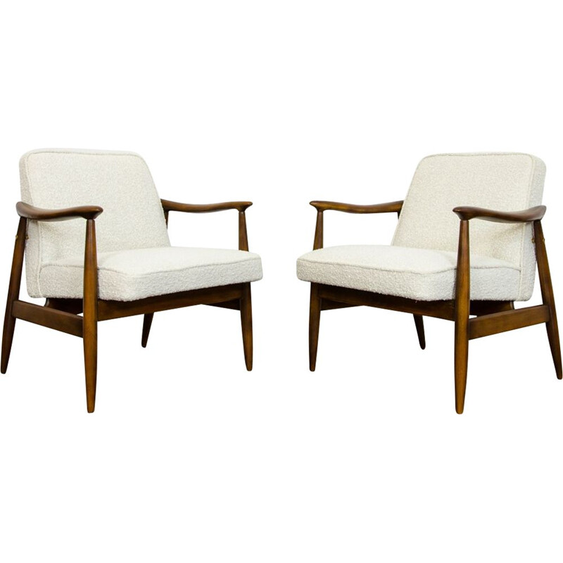 Pair of vintage armchairs by Juliusz Kędziorek for GFM 1960s