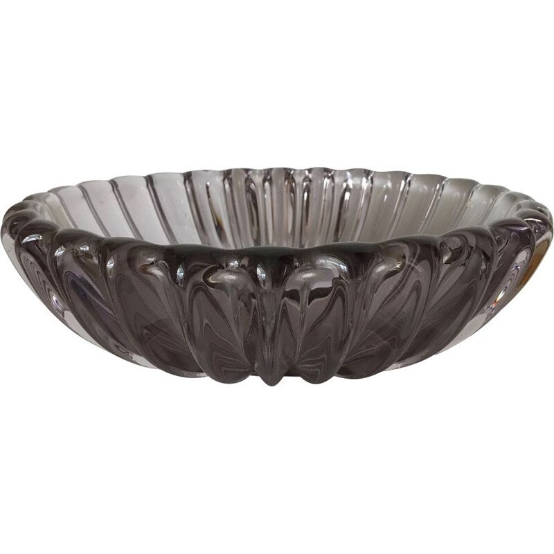 Vintage smoked glass bowl Murano