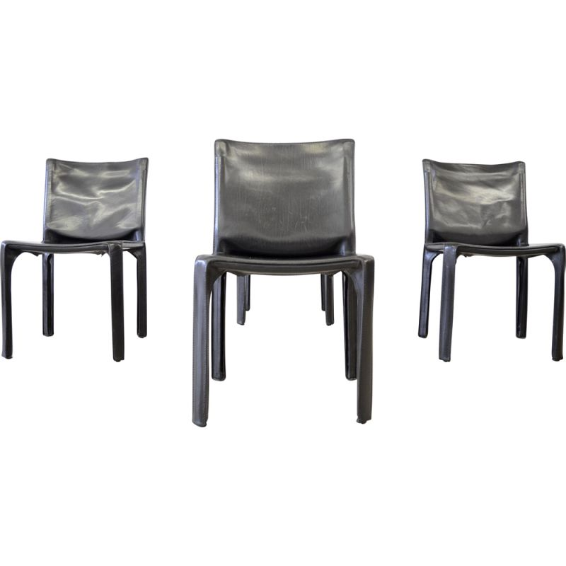 Lot of 4 vintage chairs by Mario Bellini for Cassina 1977