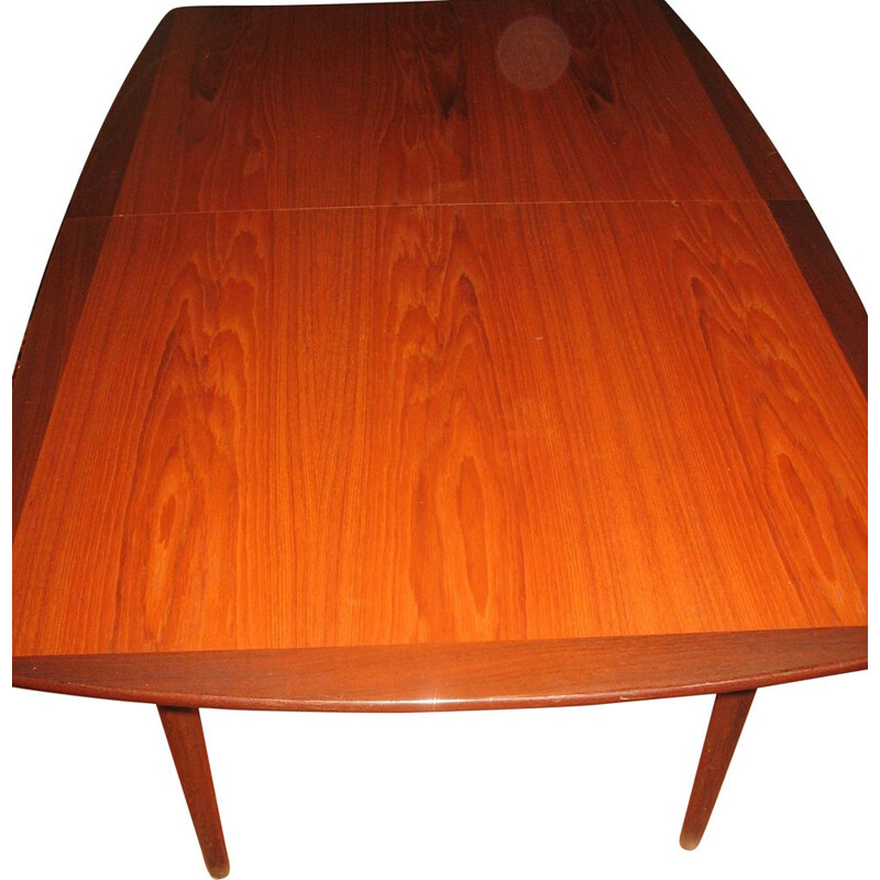 Vintage rectangular table by Arne Vodder 1960s