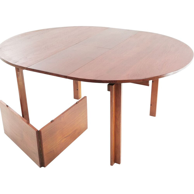 Vintage teak dining table by Inger Klingenberg for France & Son 1960