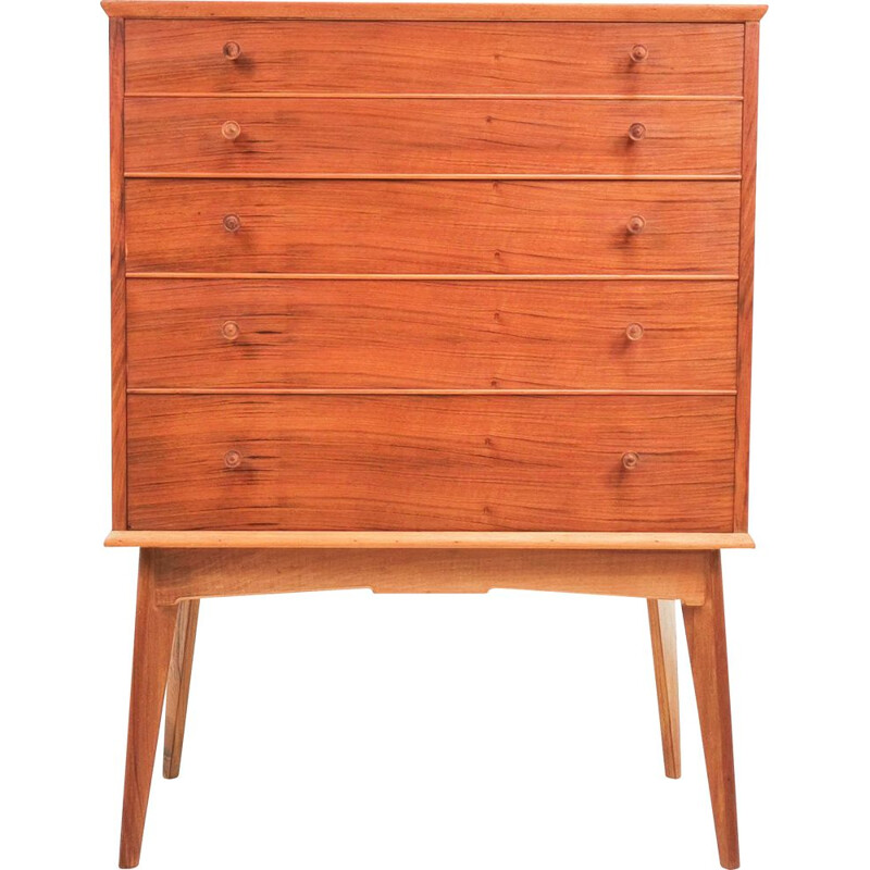 Vintage walnut chest of drawers by Alfred Cox for Heals, United Kingdom