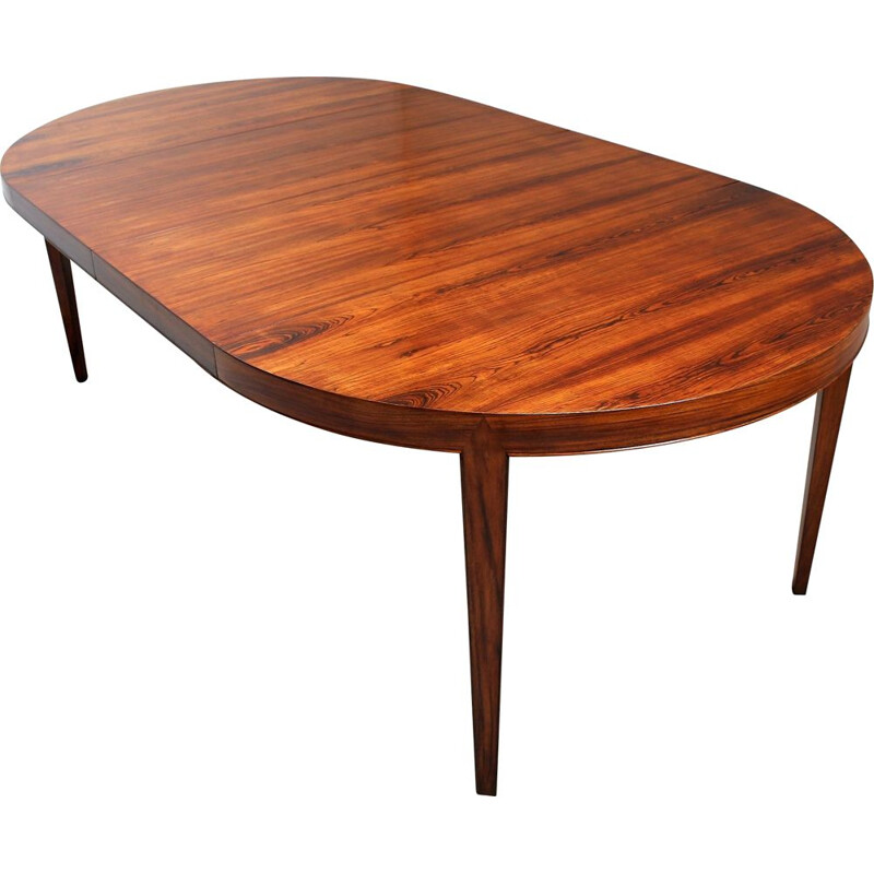 Vintage Rio rosewood table by Severin Hansen for Haslev Mobelsnedkeri, Denmark 1950