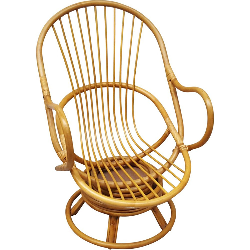 Vintage bamboo armchair 1970s