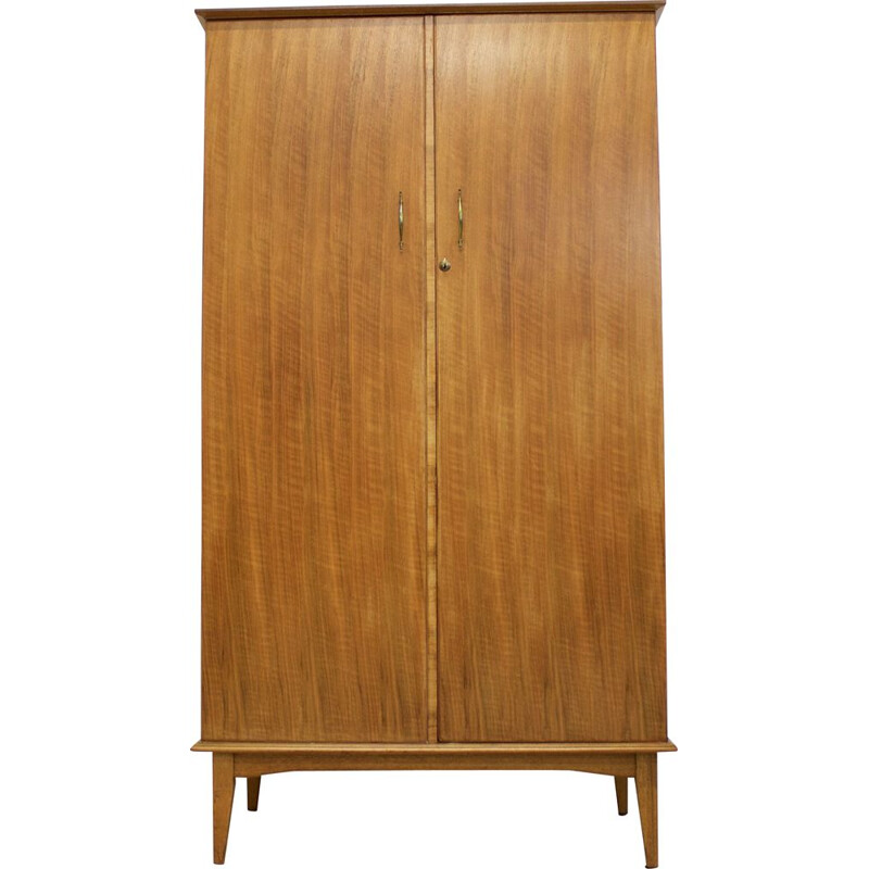 Vintage Walnut Wardrobe by Alfred Cox for Heal's 1960s
