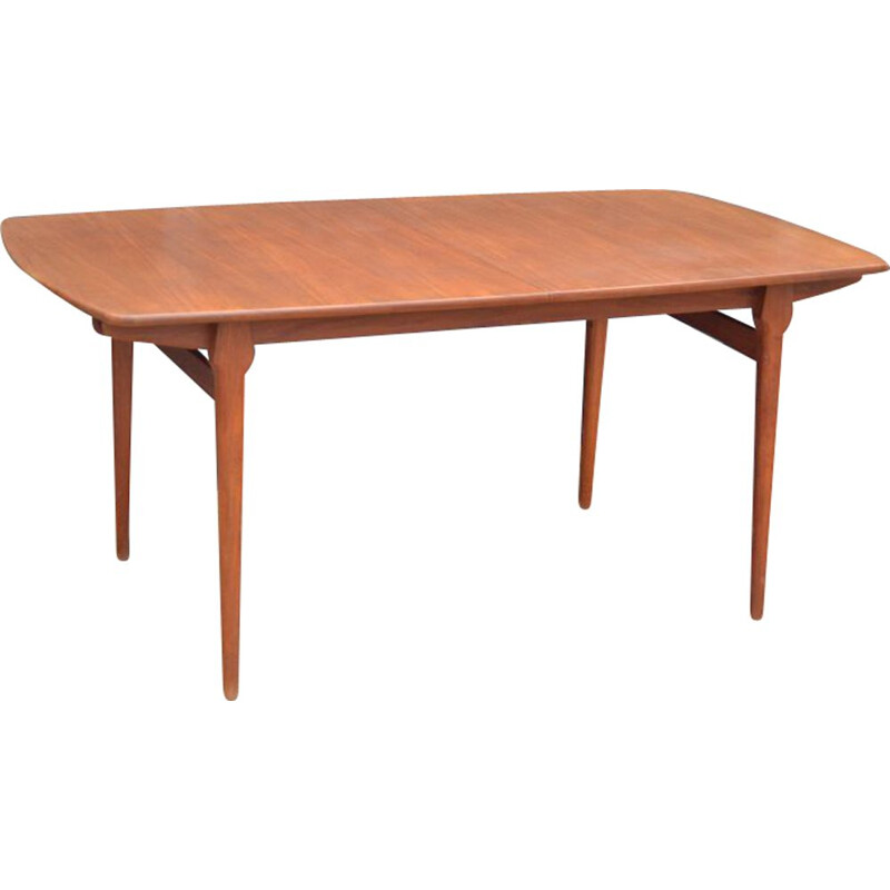 Vintage extensible teak dining table by William Watting Netherlands 1950s