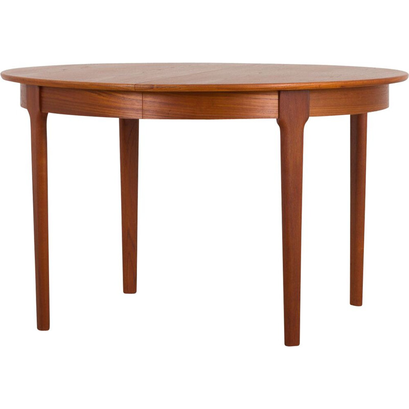 Vintage C.J. Rosengaarden teak extension round dining table with two leaves