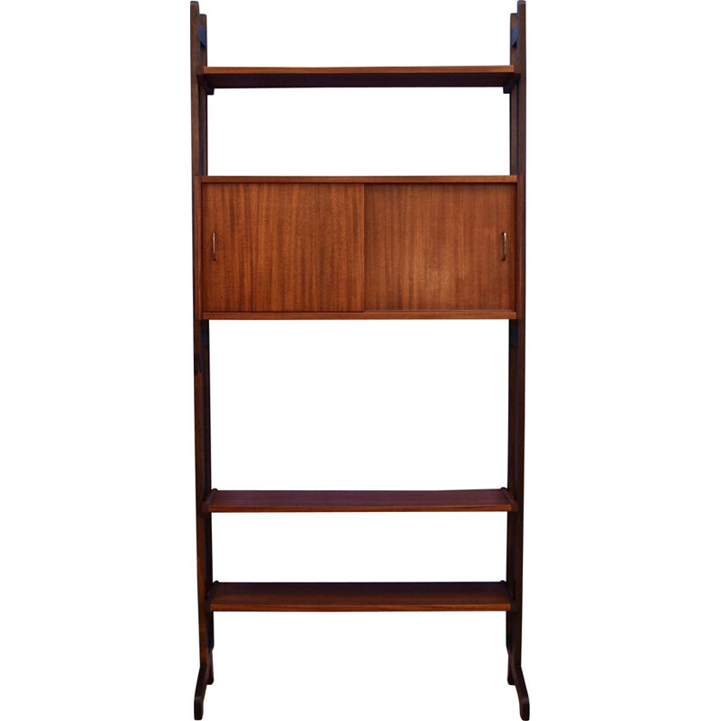 Vintage wall unit in teak by Simpla Lux Dutch 1960s