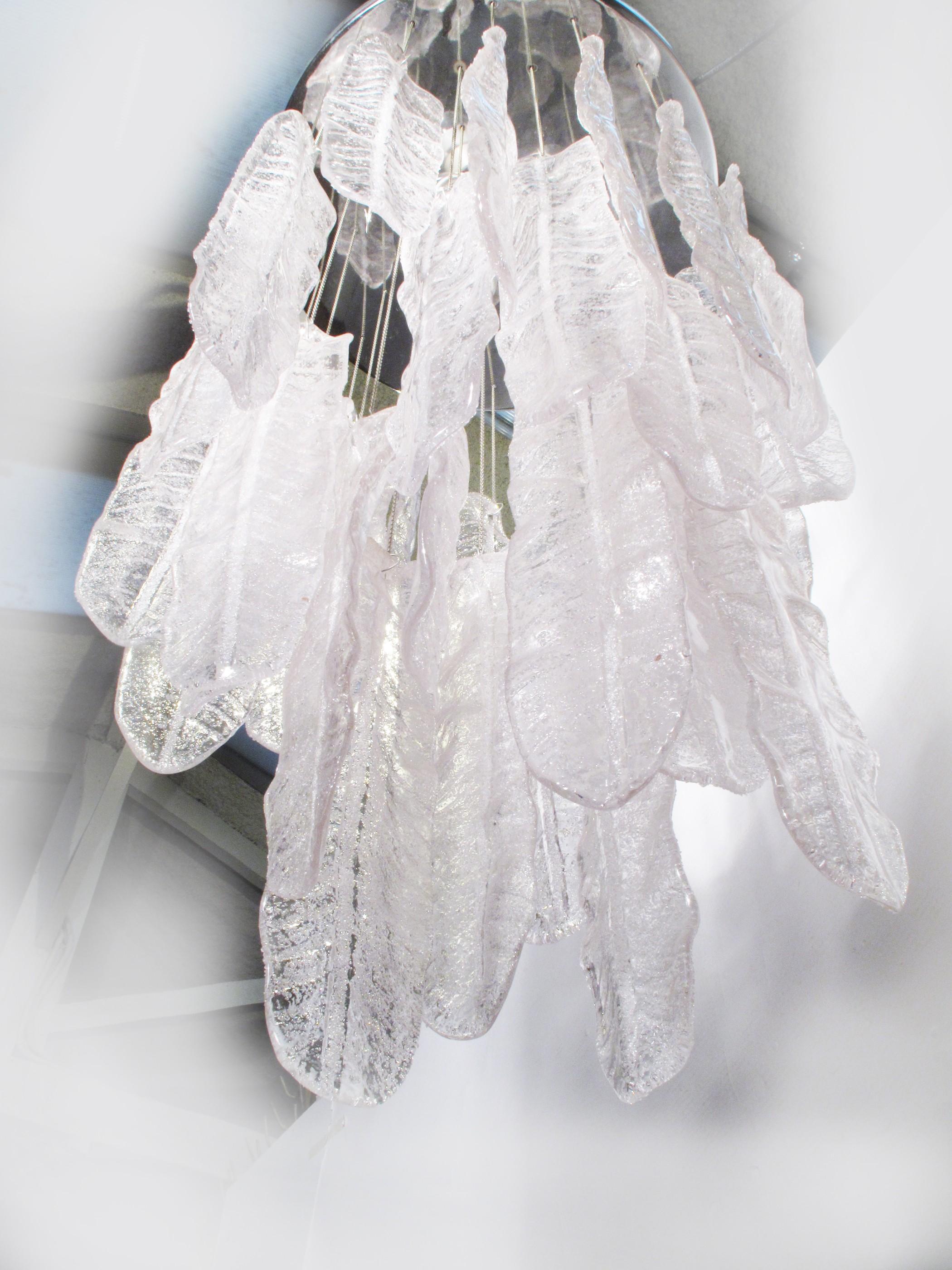 "Italian Murano glass ""feather"" chandelier 1970s Design Market"