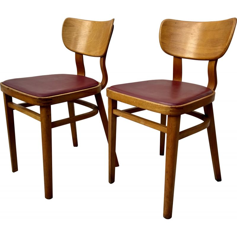 Vintage Pair of Kitchen Dining Chairs