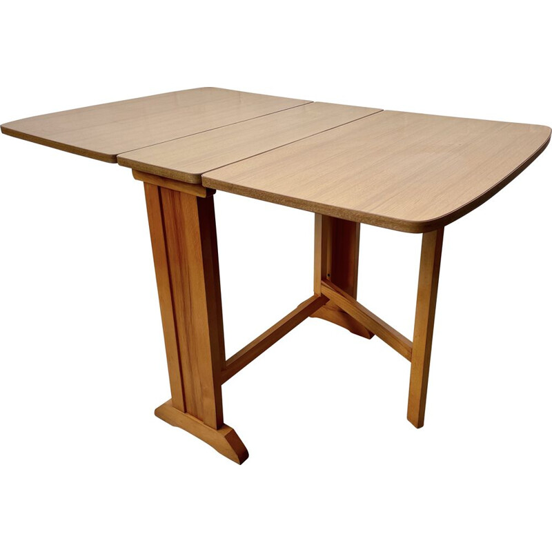 Vintage Folding Formica Dining Table 1960s