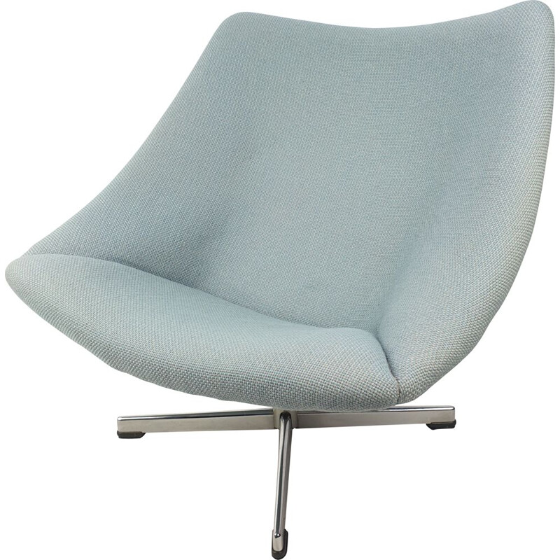 Vintage Oyster Chair with Cross Base by Pierre Paulin for Artifort 1965s