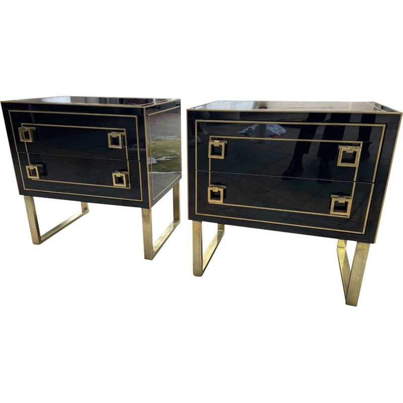 Pair of small vintage Nardo Italian chest of drawers 1975s