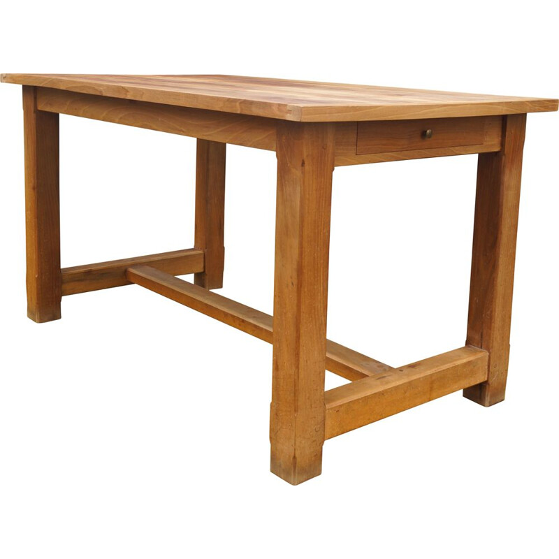 Vintage country table in solid wood 1950s