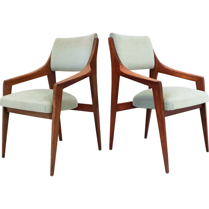 Pair of vintage Scandinavian armchairs 1960s