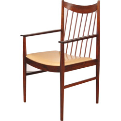 Sibast dining chair in rosewood and beige leatherette, Arne VODDER - 1960